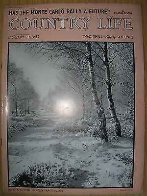 VINTAGE COUNTRY LIFE MAGAZINE JANUARY 29th 1959 IDEAL BIRTHDAY GIFT - HEADLEY