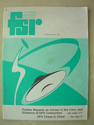 FSR FLYING SAUCER REVIEW MAGAZINE - VOLUME 32 No 6 - 1987 - UFO