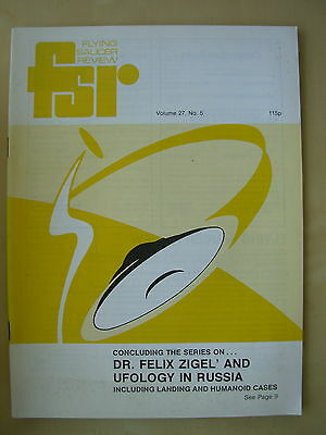 FSR FLYING SAUCER REVIEW MAGAZINE - VOLUME 27 No 5 - 1981 - UFO