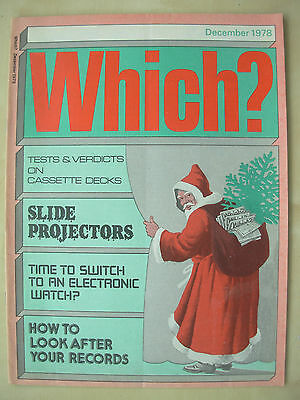 Vintage Which Magazine December 1978 Slide Projectors - Electronic Watches