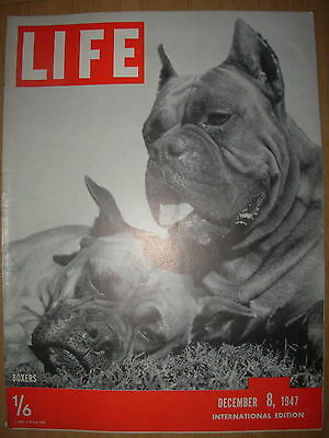 VINTAGE LIFE MAGAZINE DECEMBER 8th 1947 225,000 US WAR DEAD ARE BROUGHT HOME