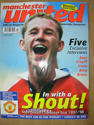 MANCHESTER UNITED OFFICIAL MAGAZINE VOL 5 No 10 OCTOBER 1997