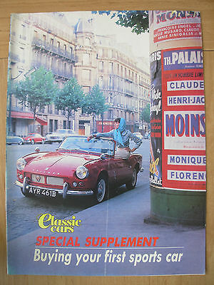 Classic Cars Magazine Supplement Buying Your First Sports Car