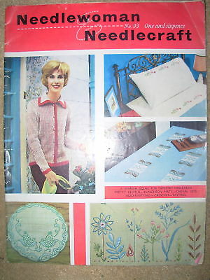 VINTAGE 1963 NEEDLEWOMAN & NEEDLECRAFT MAGAZINE No 93
