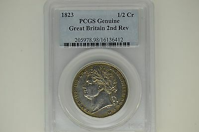 Great Britain: 1823 Half Crown- PCGS Genuine.  2nd Reverse.  AU