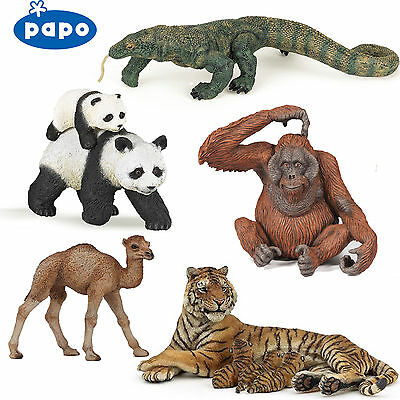 PAPO Wild Animal Kingdom ASIA - Choose from CAMELS, TIGERS, PANDAS etc with Tags