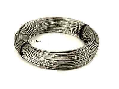 New Stainless Steel Wire Rope cable, (Plastic Coated ,20M)