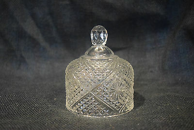 Fostoria Domed Butter Dish Lid - Avon 1970s Vintage Cut Crystal Replacement