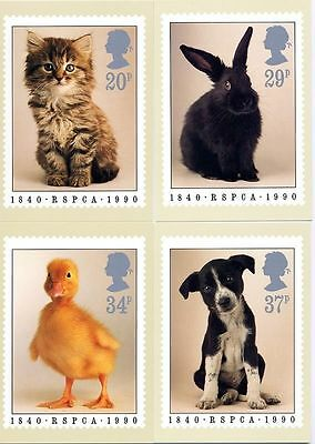 Gb Postcards Phq Cards No. 123 Mint Full Set 1990 Rspca 10% Off Any 5+