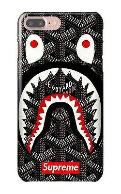 Supreme Shark Bape for iPhone 5 5S 6 6S 6+ 6S+ 7 7+ Hard Case