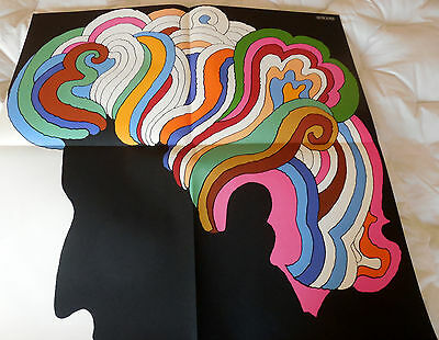 "Bob Dylan Poster By Milton Glaser Original 1967 33""x22"" Psych Pop Art"