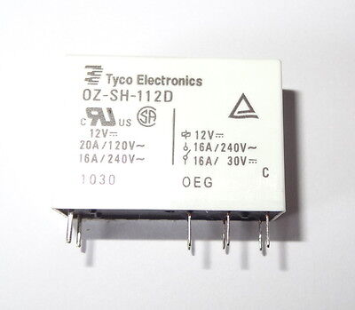 1 pc Relay TYCO ,   12V coil, 16A contact, SPDT. OZ-SH-112D