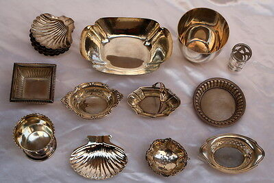 Magnificent 15Pcs Of Sterling Silver Dishes Cups, Basket, Tea Strainer