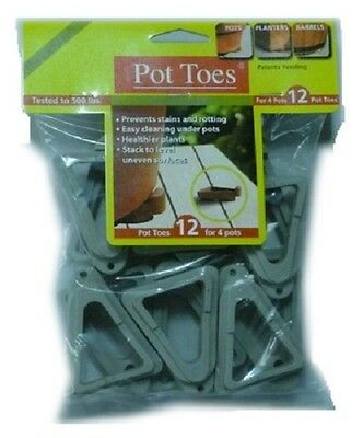 """Plant Stand 12 Pack, 3"""", Light Gray, Pot Toes"""