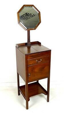 Good Quality Antique Edwardian Mahogany Gentlemans Shaving Stand