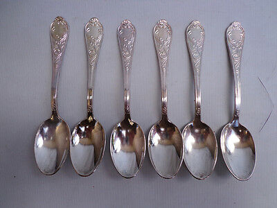Antique Sterling Silver Table Spoons - set of 6 - ITALIAN -800