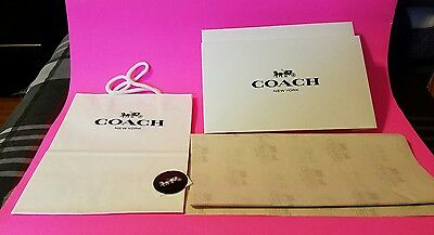 Coach Gift Box 6X10  plus tissue paper shopping bag and seal