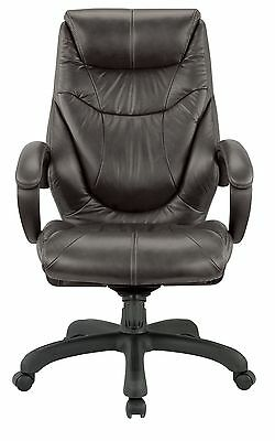 Nicer Furniture® Genuine Leather High Back Executive Chair, Espresso Coffee R...