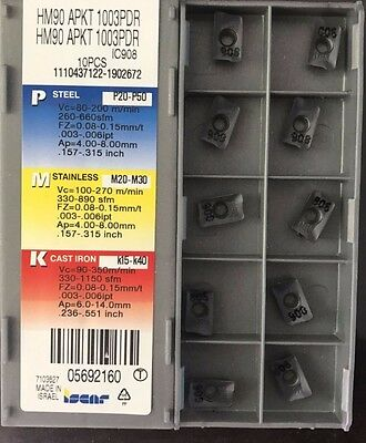 10Pcs Iscar Indexable Insert APKT1003PDR IC908 Carbide Inserts