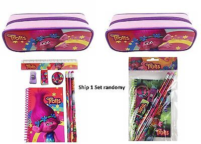 Dreamworks Trolls Poppy School Stationery Set With Pouch Pencil Case