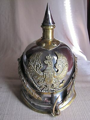 Pre-WWI M1867 Kurassier Line Regiments Lobstertail Pickelhaube Spiked Helmet