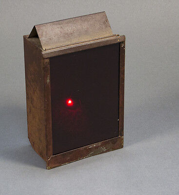 Antique Candle Powered Red Darkroom Safe Lamp - 3.75 x 6 inch - Working