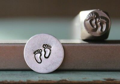 SUPPLY GUY 6mm Baby Feet Metal Punch Design Stamp SGCH-138