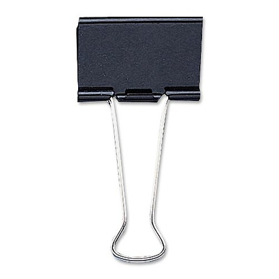 Sparco Mini Binder Clip, 9/16-Inch Wide, 1/4-Inch Capacity, 12 per Box, Black (S
