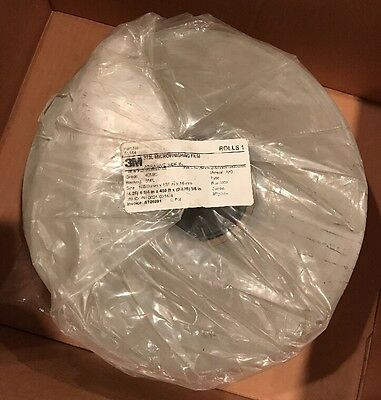 NEW 3M microfinishing Film Roll 4.25in x450ft x5/8in Abrasive side In 40MIC