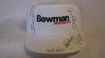 Bowman Motorsports Hat Autographed by Earnhardt, Elliott, Rudd, and more NEW