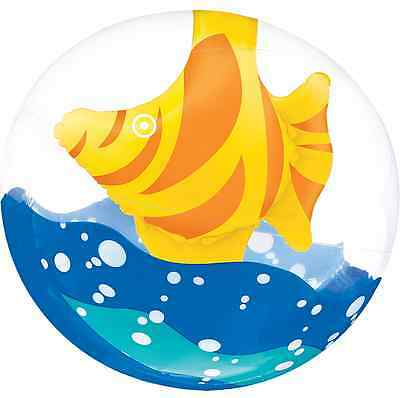 3 D Fish Clear Beach Ball ~ Birthday Luau Party Decorations Water Sports Play