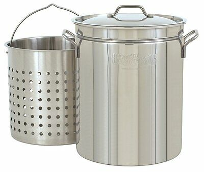 Bayou Classic 1144 44-Quart All Purpose Stainless Steel Stockpot with Steam