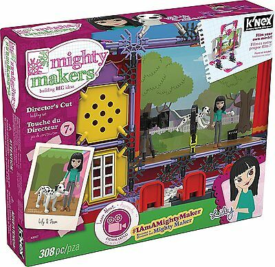 K'NEX Mighty Makers Director Cut Building Ages 7+ Girls Boys Play Film Theater