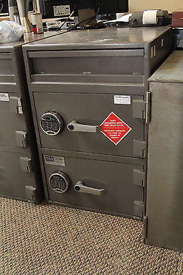 "Allied SAFE- ""B"" Rated 2 door used Drop Safe Electronic Locks"
