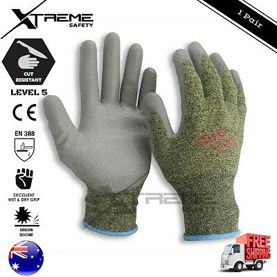 Cut Resistant Safety Work Gloves High Density PU Palm Proof Safety Gloves 1Pair