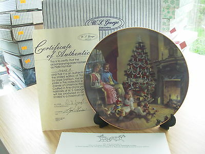 Family Traditions Scenes Of Christmas Past China Plate Boxed Certif W George 17