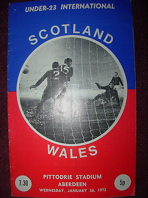 SCOTLAND v WALES 1972 UNDER-23 INTERNATIONAL