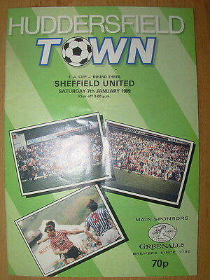HUDDERSFIELD TOWN v SHEFFIELD UNITED 1988-89 FA CUP