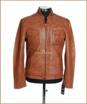 Lee Tan Men's Classic Styled Casual Real Soft Sheep Leather Fashion Jacket