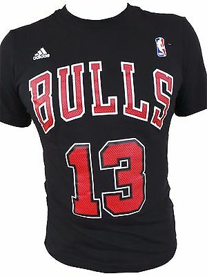 ADIDAS NBA CHICAGO BULLS GAME TIME T-SHIRT NOAH #13 SCHWARZ Gr. M L XL