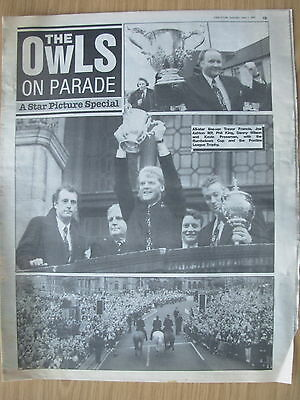 NEWSPAPER SHEFFIELD WEDNESDAY v MANCHESTER UNITED 1991 SPECIAL OWLS ON PARADE