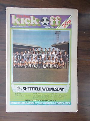 NEWSPAPER STAR KICK-OFF SPECIAL JULY 25th 1981 SHEFFIELD WEDNESDAY & UNITED
