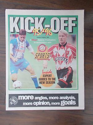 NEWSPAPER STAR KICK-OFF SPECIAL AUGUST 8th 1995 SHEFFIELD WEDNESDAY & UNITED