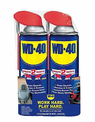 WD-40 490224  Multi-Use Product 14.4 oz. Smart Straw Twin-Pack