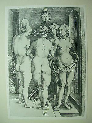 Albrecht Durer Vintage Copper Engraving The Four Naked Women Or Witches