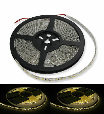 LED Strips Streifen 5 Meter 600 LED 3528  warmweiß 7-8 Lm/LED IP65