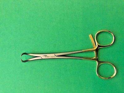 "2 x Bone Reduction Forceps 5"" Curved With Serrated Teeth Better Grip Orthopedic"