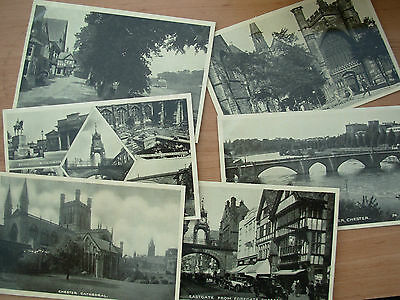 Job Lot Of 6 Vintage Postcards Of Chester - Cathedral - River Dee - Eastgate