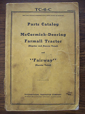 IH Farmall Mccormick International Regular Parts Manual