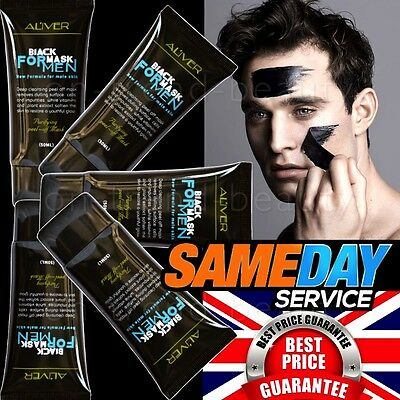ALIVER Men Peel-off Black Blackhead Spot Acne Remover Clean Face Nose Mud Mask